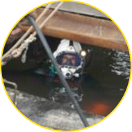 Diver Working On Surface